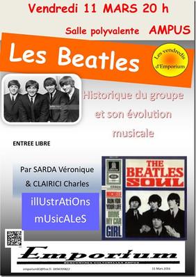 Les Beatles : Rencontres Culturelles d'Emporium le 11 mars 2016
