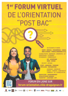 "1er FORUM VIRTUEL de l'orientation ""Post BAC"""