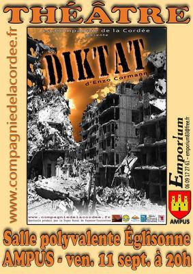 """""""DIKTAT"""" d'Enzo Cormann le 11 septembre 2015 à 20h"""