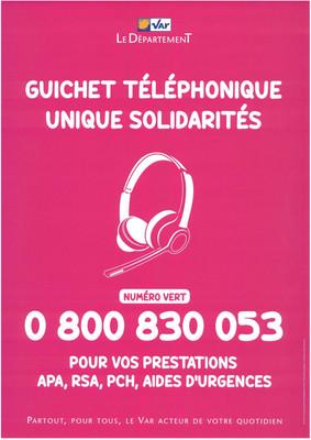 GUICHET TELEPHONIQUE UNIQUE SOLIDARITES