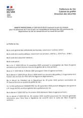 ARRETE PREFECTORAL IMPOSANT LE PORT DU MASQUE