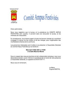 COMITE AMPUS FESTIVITES