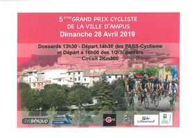 5ème Grand Prix cycliste de la ville d'Ampus