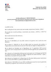 ARRETE PREFECTORAL PORTANT PRESCRIPTION DES MESURES POUR FAIRE FACE A L'EPIDEMIE DE COVID-19