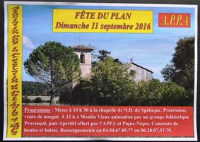 Fête du Plan dimanche 11 septembre