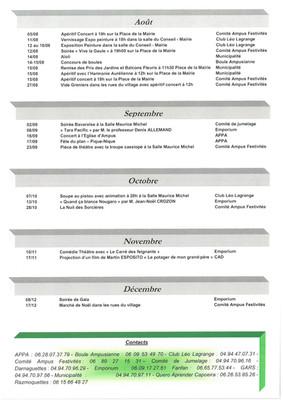 Programmes des festivités 2017 (suite)