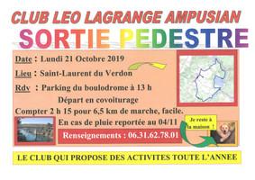 Sortie Pédestre                                      Club Léo Lagrange Ampusian