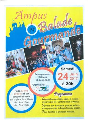 Ampus samedi 24 juin 2017 : 19 ème Balade Gourmande