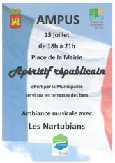APERITIF REPUBLICAIN - 13 JUILLET 2021