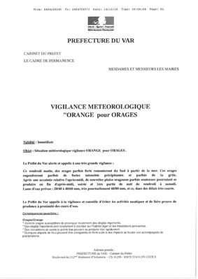 """Vigilance météo """"Orange pour orages"""""""