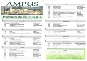 Programme des festivités 2019 à Ampus