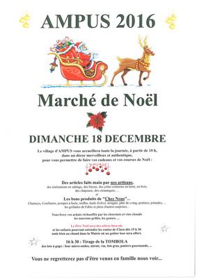 Dimanche 18 décembre 2016 : Marché de Noël