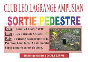 Sortie pédestre Club Léo Lagrange