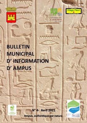 BULLETIN MUNICIPAL D'IMFORMATION D'AMPUS N°4 AVRIL 2021