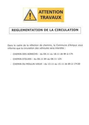 Réglementation de la Circulation