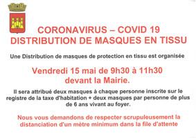COVID-19 : AMPUS - DISTRIBUTION DE MASQUES EN TISSU