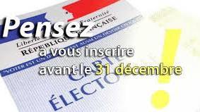 Samedi 31 décembre 2016 : Permanence inscriptions listes électorales