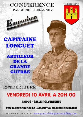 Conférence « Capitaine Longuet Artilleur de la Grande Guerre »