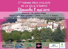 2ème Grand Prix Cycliste d'Ampus, dimanche 1er mai 2016