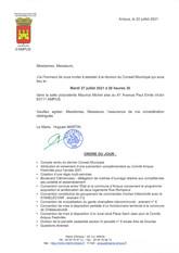 REUNION DU CONSEIL MUNICIPAL LE MARDI 27 JUILLET 2021