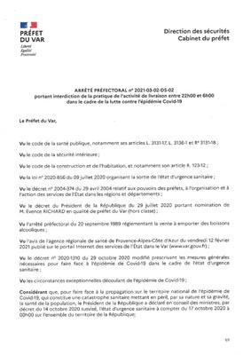 COVID-19 LIMITATION D'ACTIVITES DU 3 MARS AU 23 MARS UNCLUS