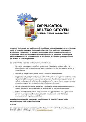 PRESENTATION DE L'APPLICATION DRACENIE DECHETS