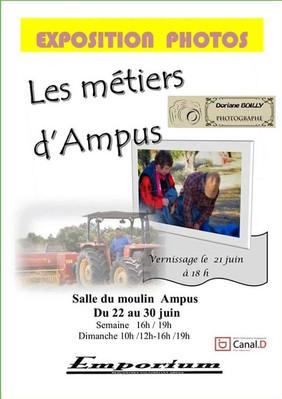 """Vernissage de l'Exposition """"Métiers d'Ampus"""" le 21 juin à 18h"""