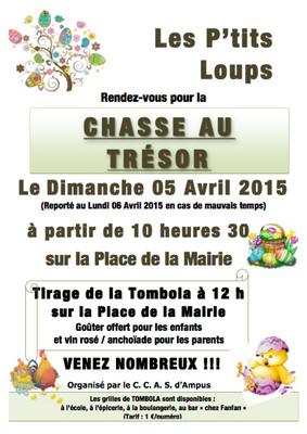 Chasse au Trésor dimanche 5 avril 2015