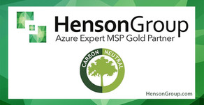 Henson Group becomes ONLY Carbon Neutral Azure Expert MSP worldwide