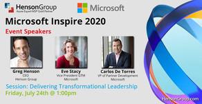 Greg Henson speaks at Microsoft Inspire 2020