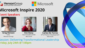 Greg Henson speaks at Microsoft Inspire 2020