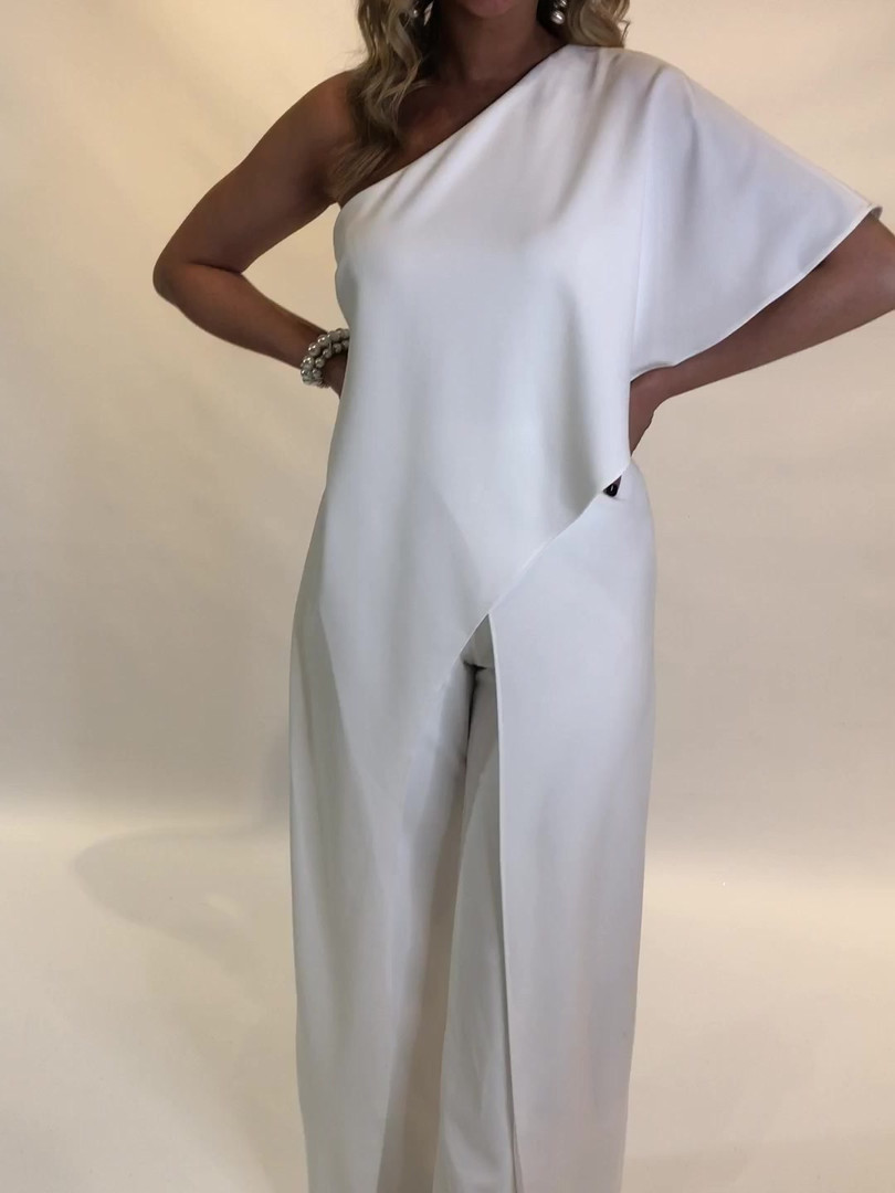 Adrianna Papell White Jumpsuit $199