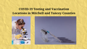 Current COVID Vaccine & Testing Availability in Mitchell & Yancey Counties