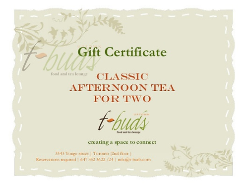 Classic Afternoon Tea for Two Gift card/digital