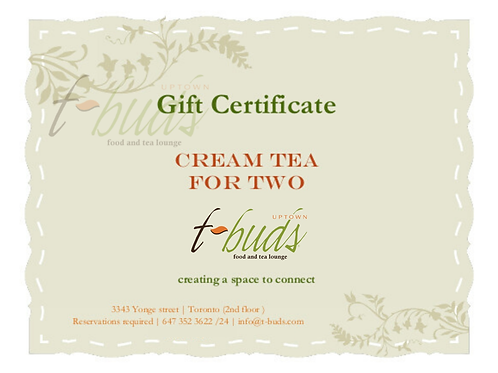 Gift Card: Cream Tea for Two