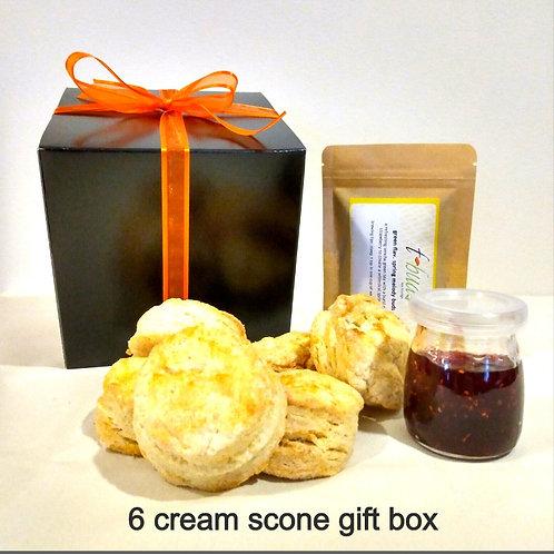 t-scone gift box |  6 classic cream scones