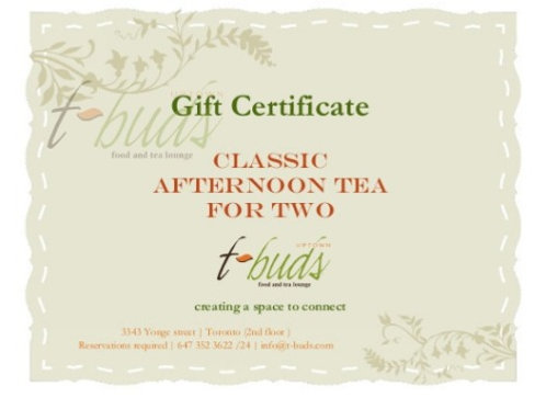Gift Card -Classic Afternoon Tea for Two