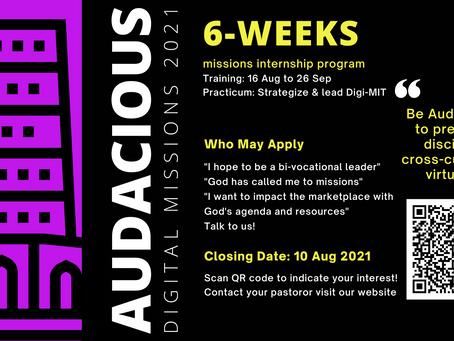 Upcoming Event > Audacious 2021 | Closing Date: 10 Aug 2021