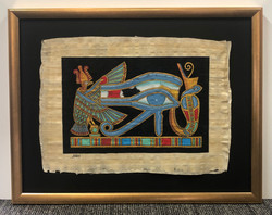 Small Papyrus in Gold Frame