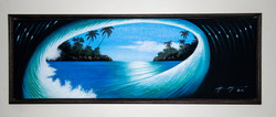 Wave Canvas In Choc Floater