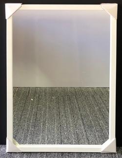 Plain 24x36 White Box Frame Mirror