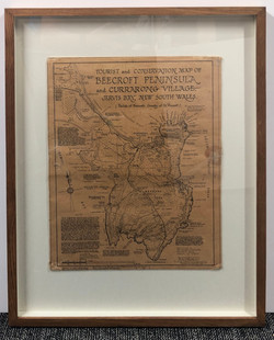 Old Map Gallery Framed