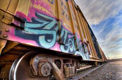 Train Car with Graffiti - Brittany Ouzts