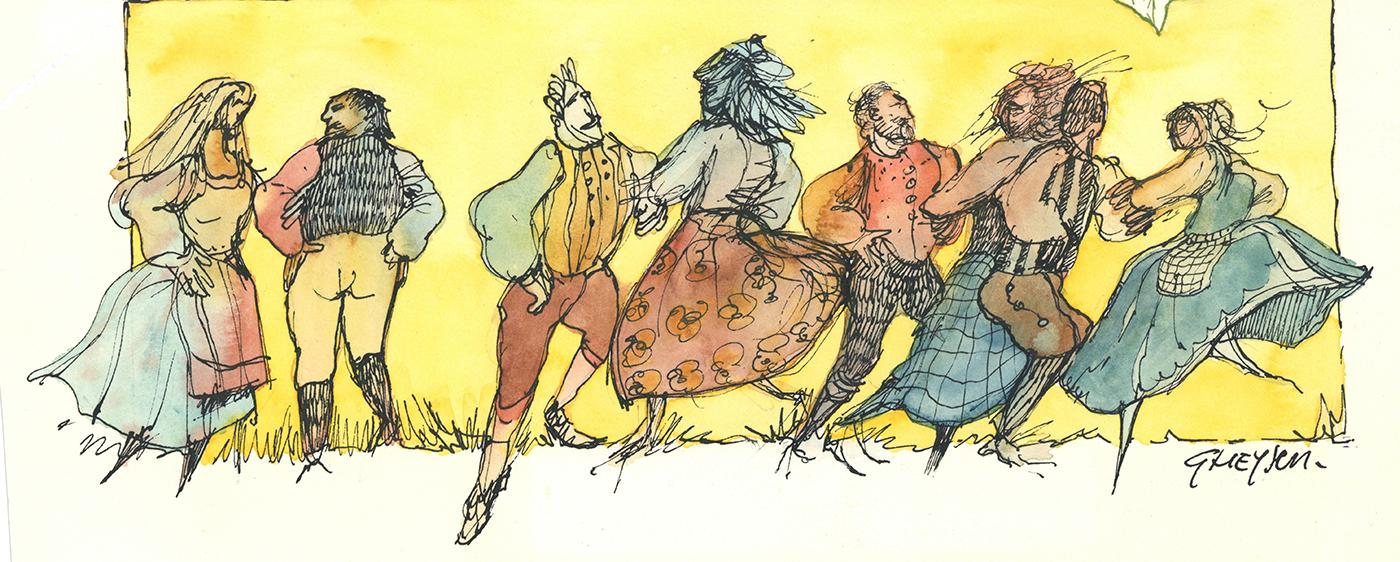 Croquis Farandole médiévale