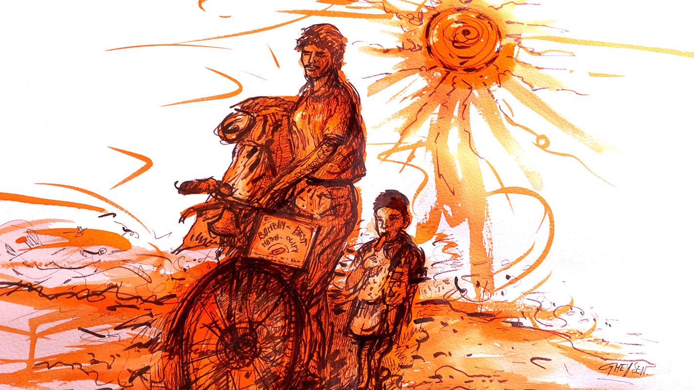 Illustration plage de Bombay