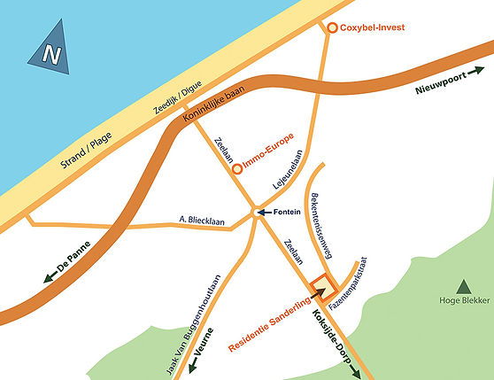 Plan de localisation Résidence Sanderling