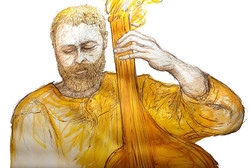 Illustration bassiste Jazz