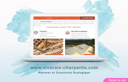 Site Web Vivarais Charpente