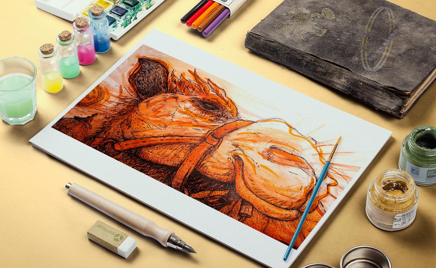 Illustration, le plaisir de peindre