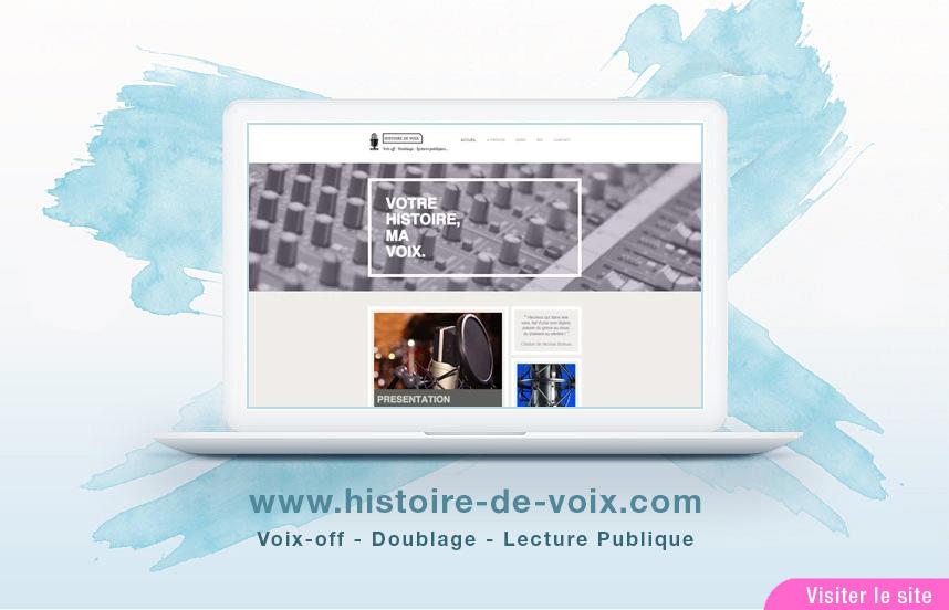 """Site Web de """"Histoire De Voix"""""""
